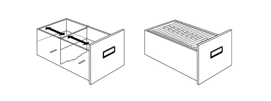 Compartiments de l'armoire AF II Fichet Bauche